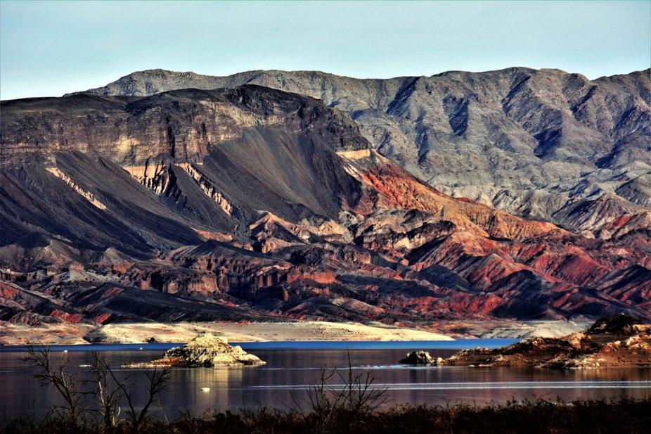 Along Lake Mead, NV. National Recreation Park.