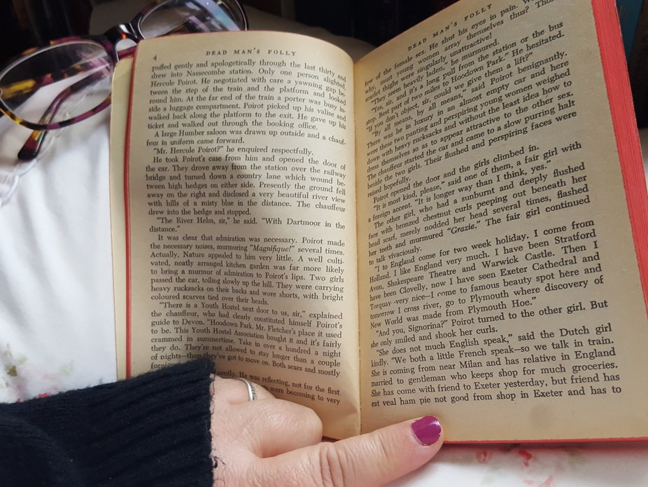 Good to be inside, warm and reading a good book.