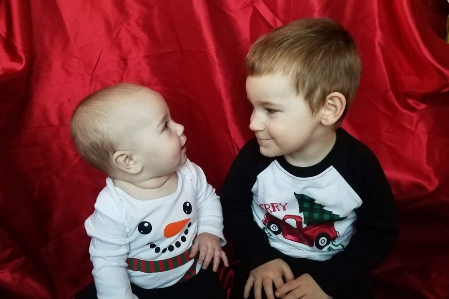 My two Grand nephews posing for Christmas