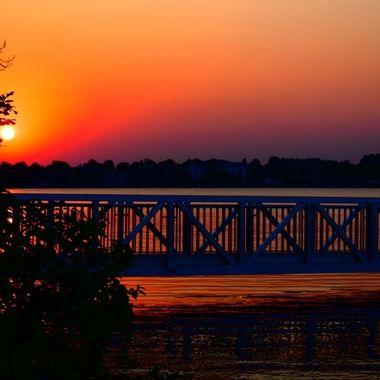 Taken from Voyaguers National Park HQ of sunset over upper Rainy River.  Nikon D3400