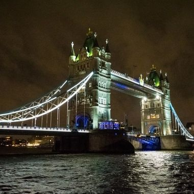 a nice shot of Tower bridge taken at night whilst on a stroll around London town on our latest holiday