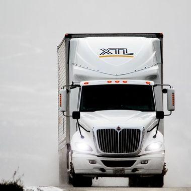 A truck on Hwy 1 near Spences Bridge