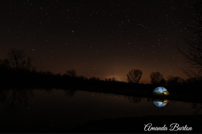 Night by the pond