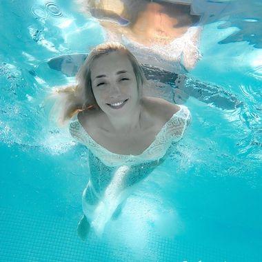 Diving fashion model