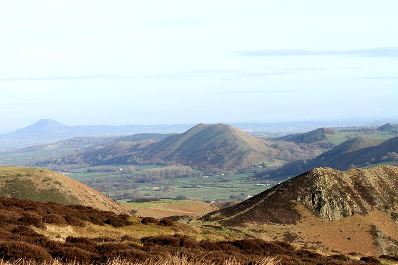 The Wrekin, Lawley, Caer Caradoc Shropshire Hills from Long Mynd