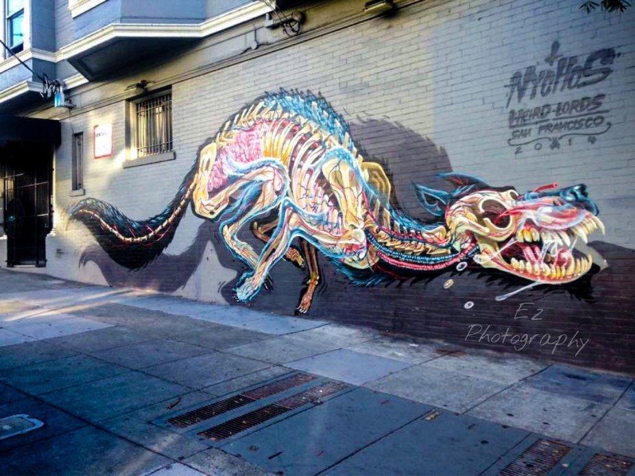 Graffiti in Haight Ashbury, California