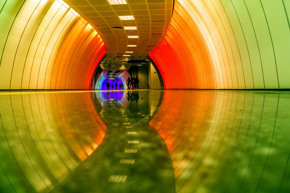 my everyday station in Istanbul - boğaziçi university metro M6. so colorful like this area, its...