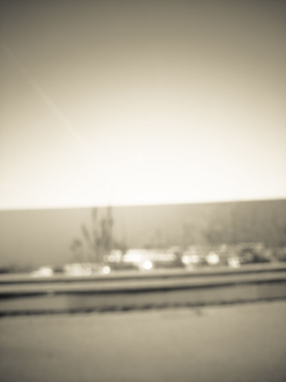 Blurry shot, passing by