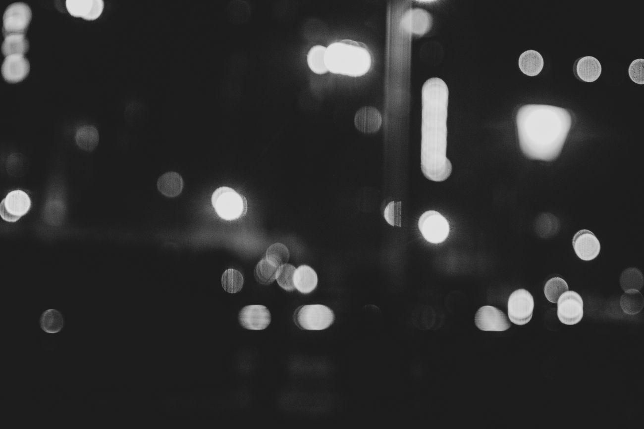 Blur of streets lights