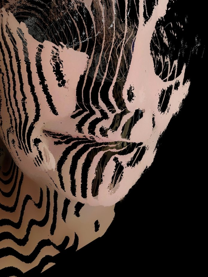 Gesicht in Scheiben geschnitten