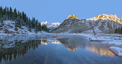 Maroonbells Reflecting in the Lake