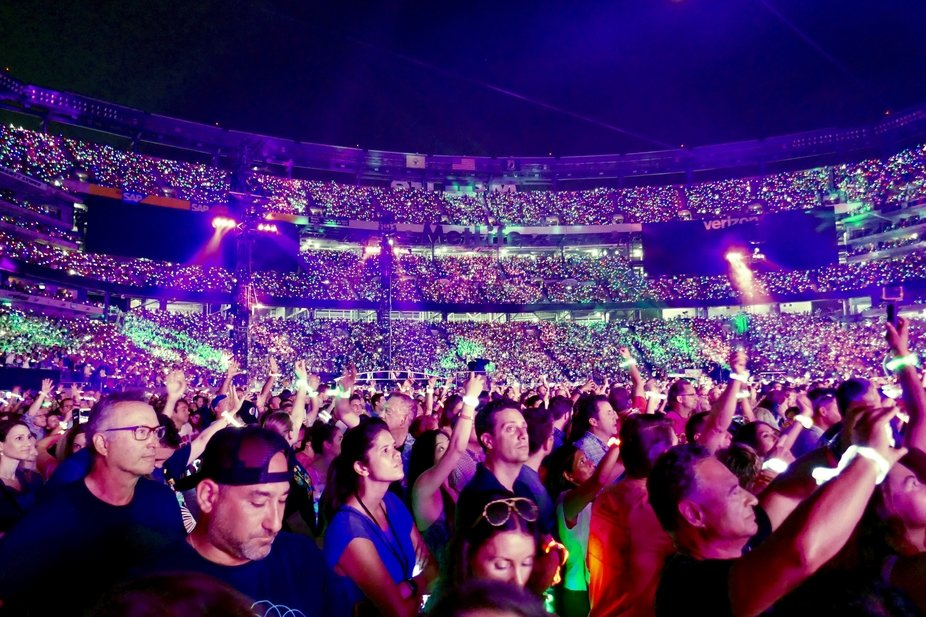 August 2017 Coldplay concert at MetLife Stadium