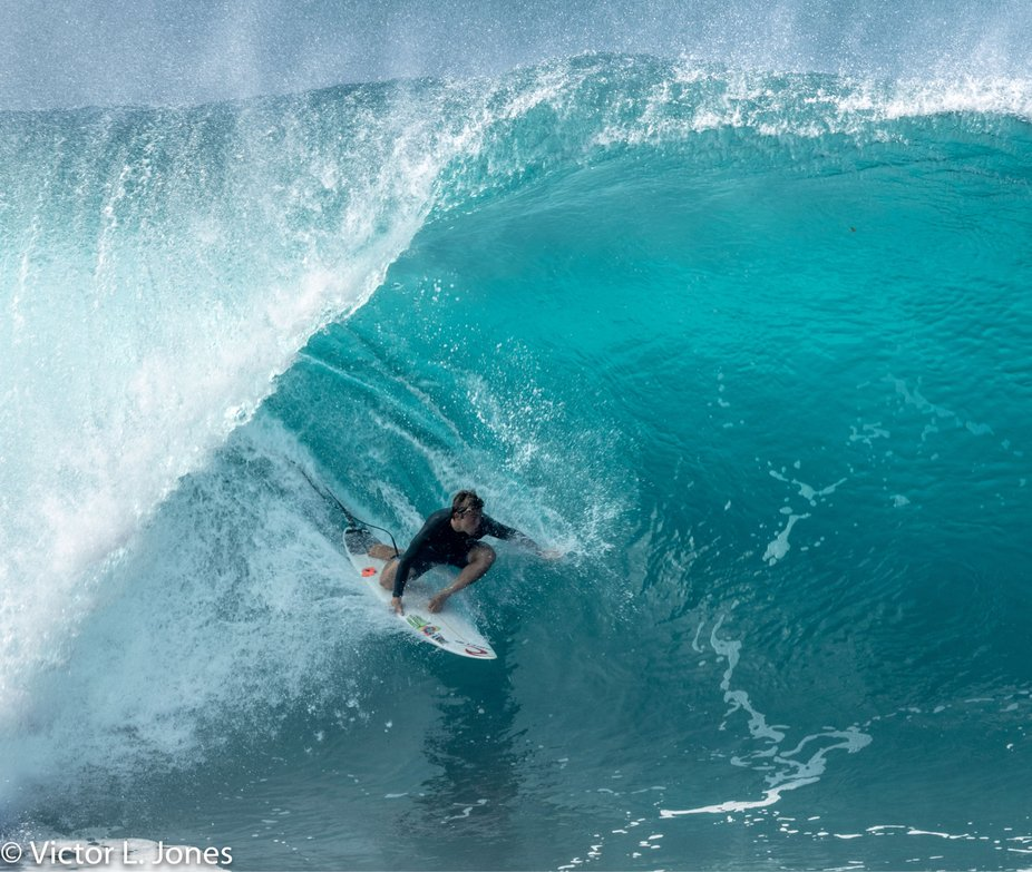 Surfer at Bonzai Pipeline