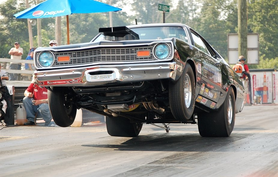 Looking for a great wheel standing, drag race car at Mooresville Dragway, in Mooresville, North C...