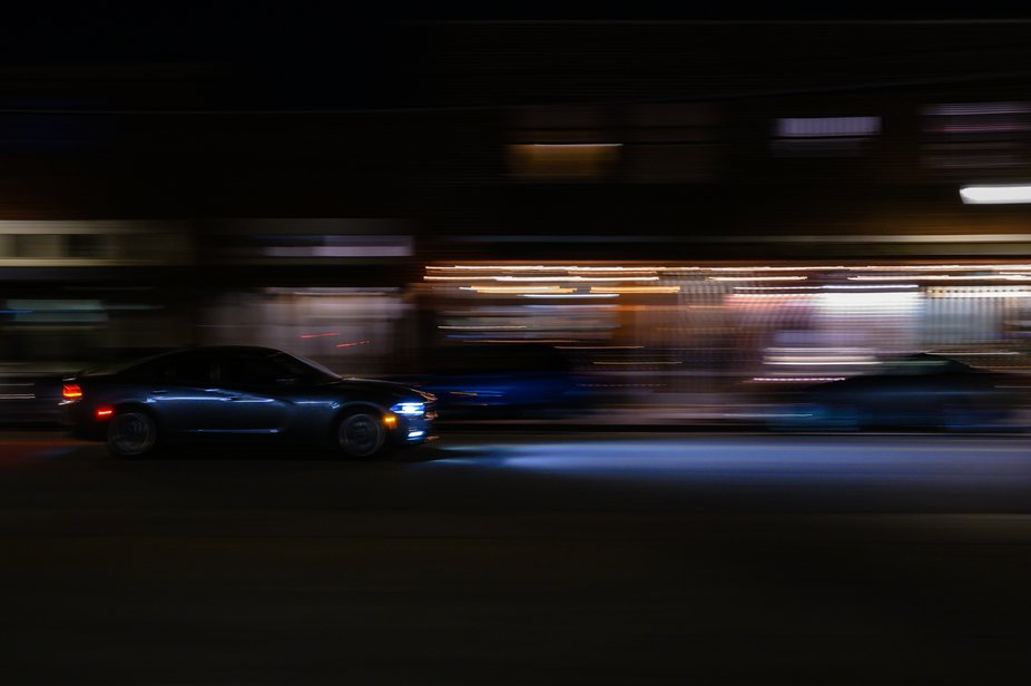 My first attempt at an image while handheld panning at night.