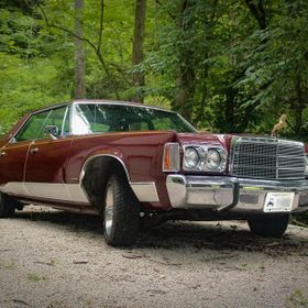 "1975 Chrysler New Yorker was nick named ""the Twenty Footer"" because it measures 20 feet from bumper to bumper."