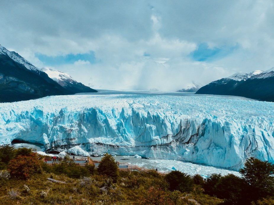 The wonderful Perito Moreno glacier in the Los Glaciares National Park in southwest Santa Cruz Pr...