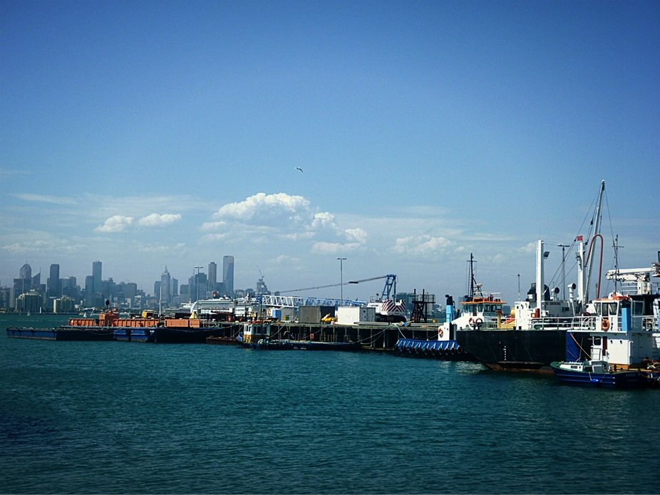 Tug Boat at work in Williamstown, vic.