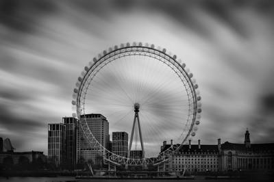 Long exposure of The London Eye.