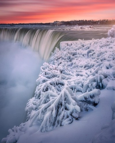 Niagara Falls during last year's deep freeze