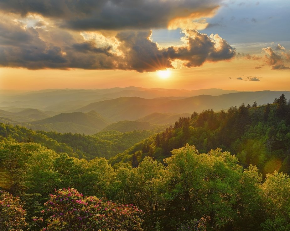 """Sommerset at Woolyback"" in the blue ridge mountains."