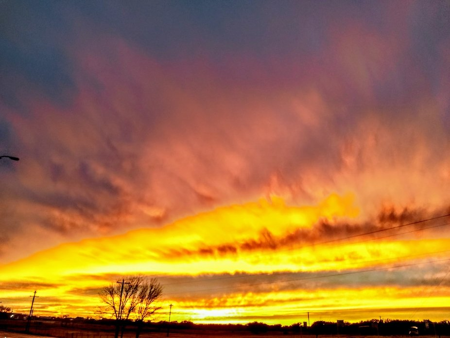 While driving home to West Texas, I had to stop in Mason to capture this beautiful sunset!!
