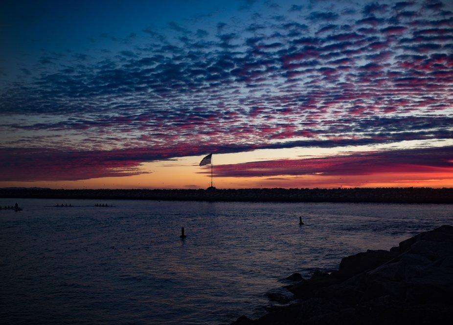 Sunset on the Jetty, Marina Del Rey