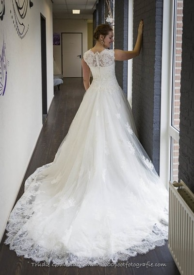Cathedral style gown