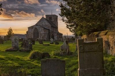 Village Church Sunset