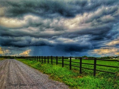 Storm rolling on Country side