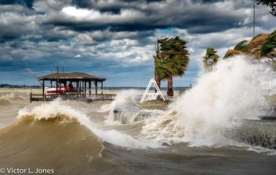 Summer storm on Lake Livingston