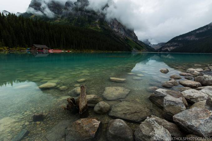 Lake Louise Canada.  Left me speechless taking this shot!   by bathsalt - Isolated Cabins Photo Contest