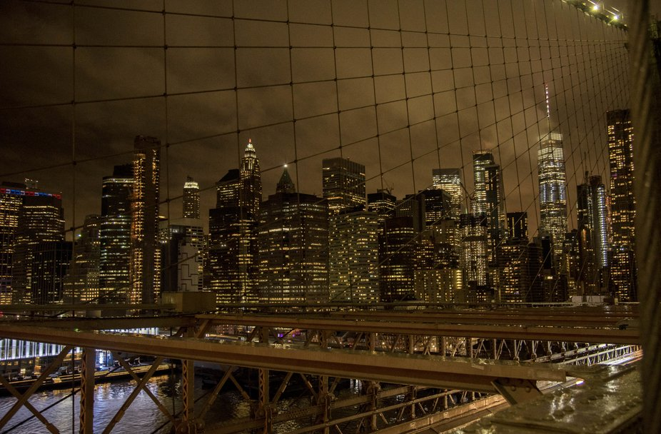 the BIG Apple by night