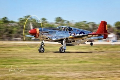 Ina the Macon Belle, P51C Takeoff