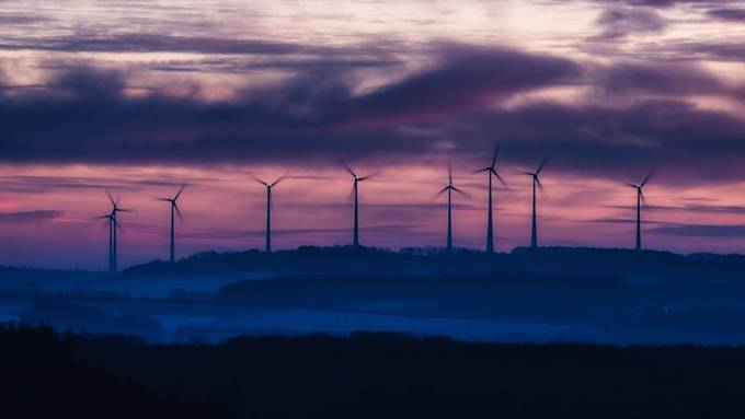Windmills at dawn by christiankieffer - Shades Of Purple Project