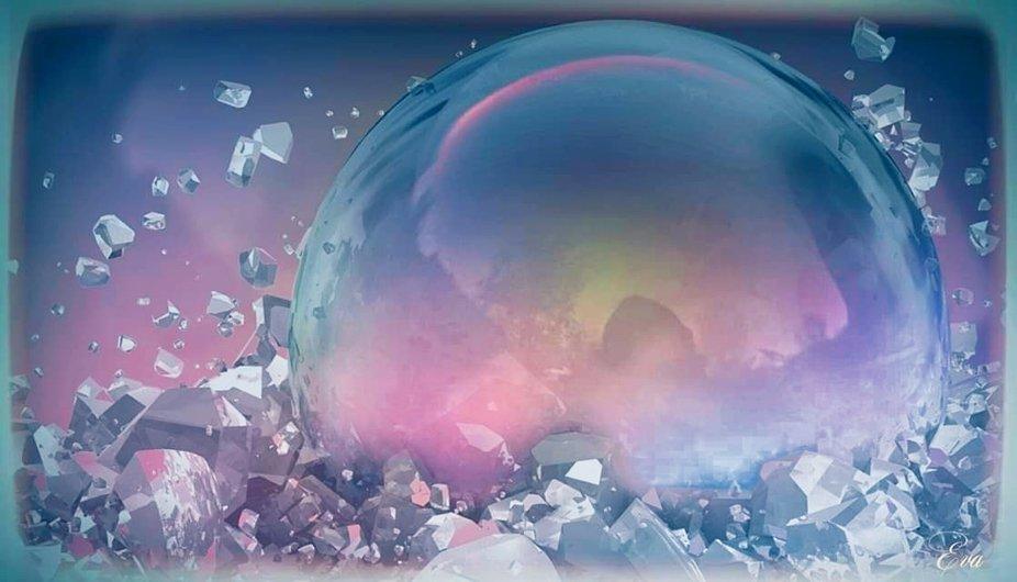 Seifenblase auf Eis