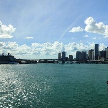 Out for a warm-up bike ride around Miami.  Stopped to take a shot from the bridge on the way to Miami Beach.