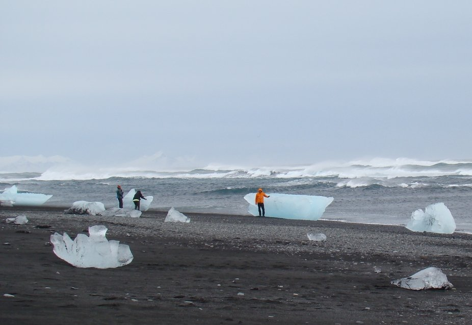 This photo was taken in Iceland on a fairly windy day in the south of the country.The strong wind...