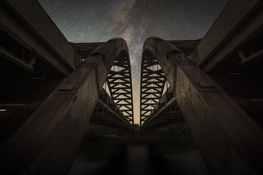 Twin Bridges at Night