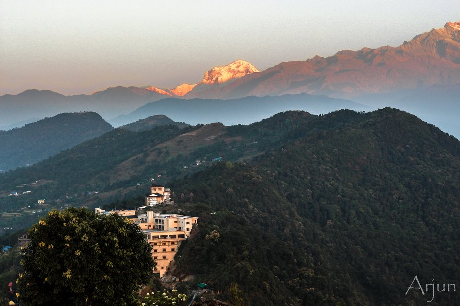 As the first golden rays from the Sun fell on the peaks of Annapurna range, I found my Peace!