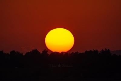sunset at larnaca cyprus