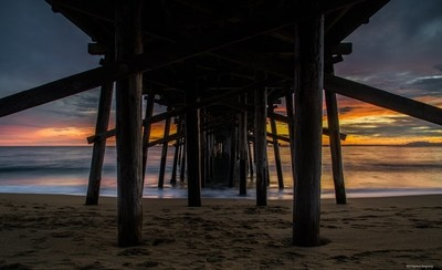 Under the Pier at Sunset #2