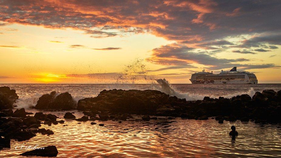 Sunset on Kona