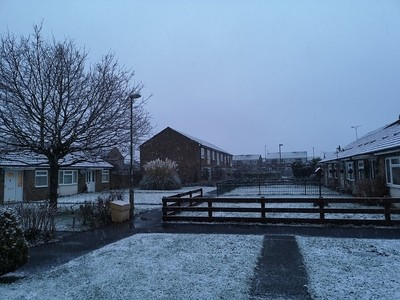 First snow in Bicester