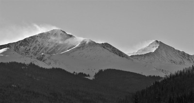 Snow Blowing off of the Summits