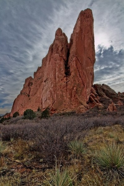 North end of Kissing Camels Rock in the Garden of the Gods