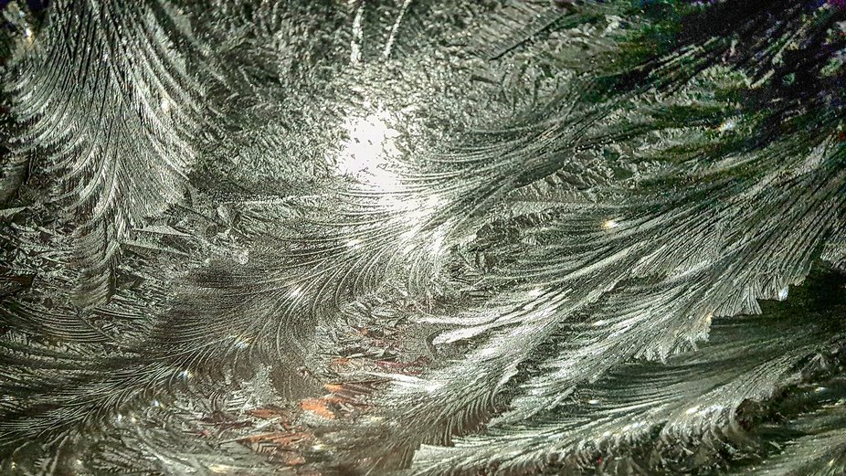Frost  on the screen of my car