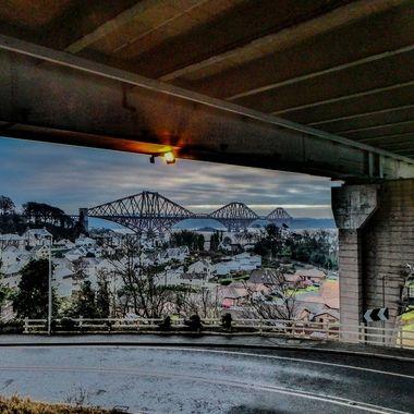 taken from in below the Forth Road Bridge