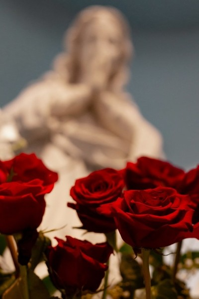 The Virgin with Roses