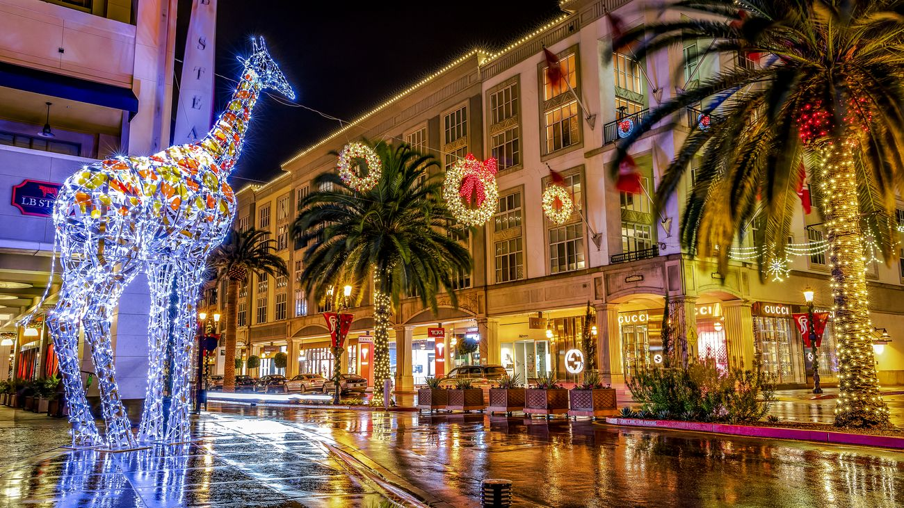 Commercial shoot for the light displays at Santana Row in San Jose, CA